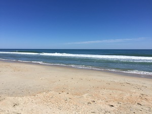Ocean View on Hatteras Island From Beach